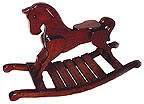 Classic Handcrafted Wooden Rocking Horse : custom crafting option